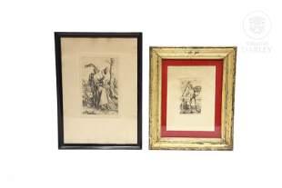 Lot of two engravings after Albrecht Dürer (1471-1528)