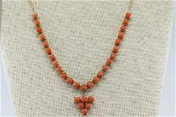 14KT Coral Ladies Necklace