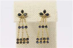 18Kt Art Deco Sapphire Earrings