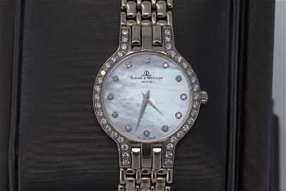 Baume & Mercier Classic Womens 14k White Gold Diamond