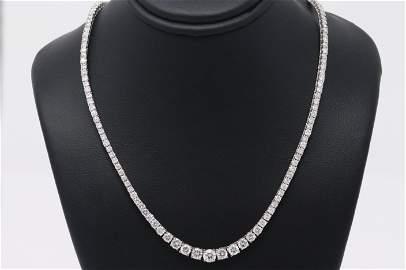 18Kt Diamond Tennis Necklace (9.00cttw)