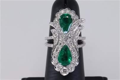 Emerald Diamond Ring.
