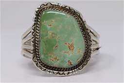 Native American Large Navajo Sterling Silver Turquoise