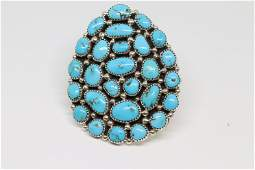 Native Navajo Handmade Sterling Silver Turquoise Ring