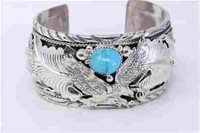 Native American Navajo Handmade Sterling Silver Egale