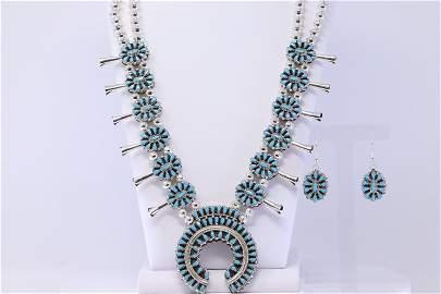 Native American Sterling Silver Navajo Handmade Cluster
