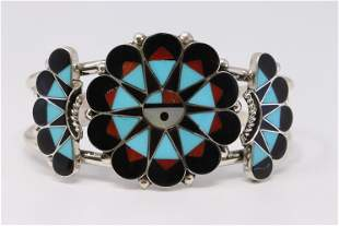 Native American Zuni Handmade Sterling Silver