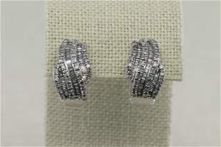 Ladies White Gold Diamond Earrings