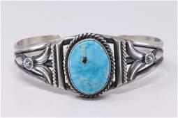 Native American Navajo Handmade Sterling Silver Kingman