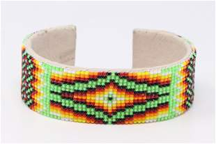 Native American Navajo Handmade Multi-Color Beaded