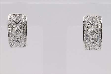 Ladies 18k  White gold Diamond Earrings