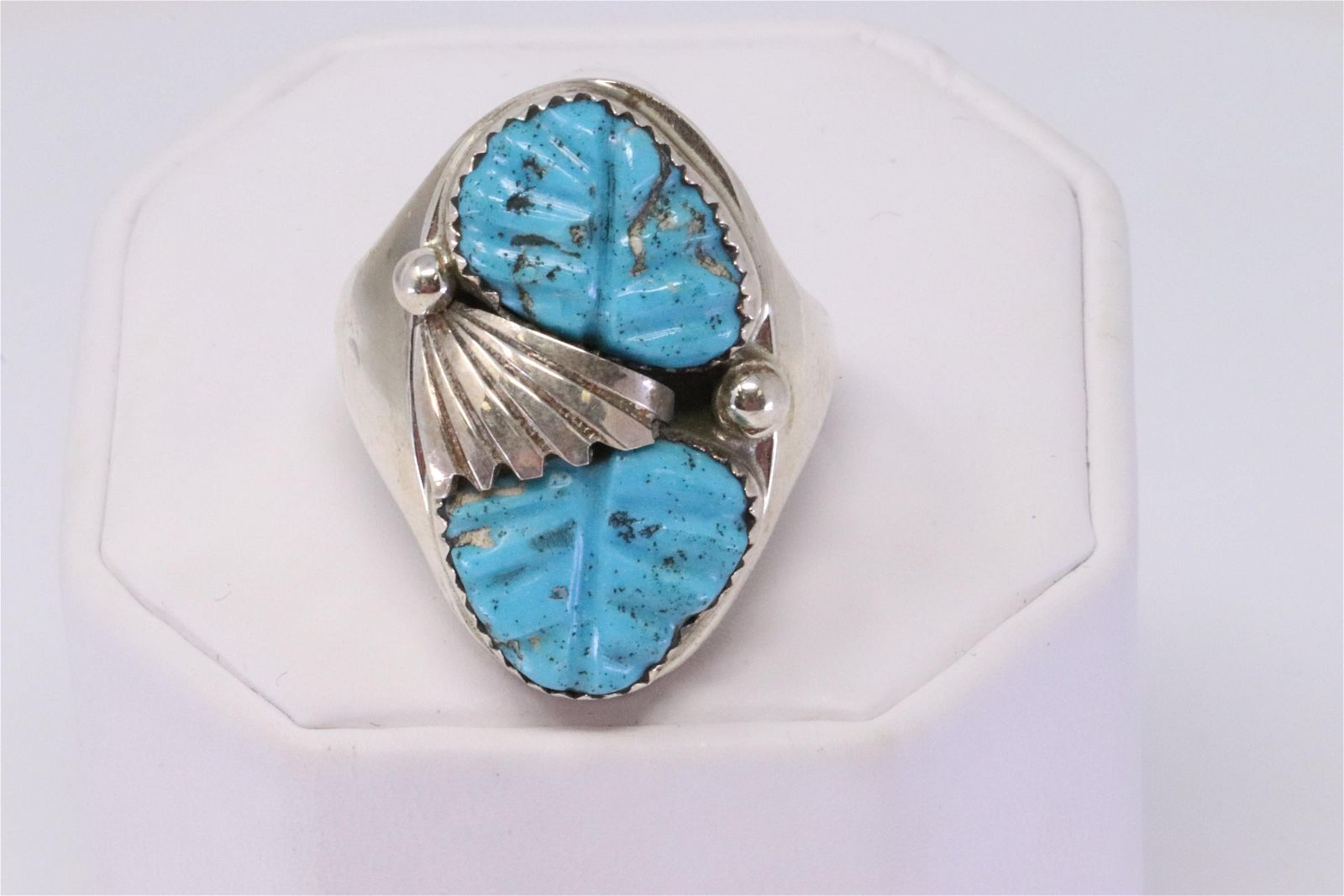 Native American Zuni Handmade Sterling Silver Turquoise