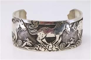 Native American Navajo Handmade Sterling Silver Horses