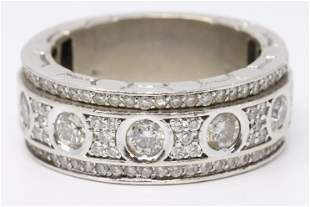14K White gold Diamond Mens Ring