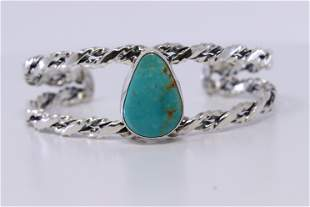 Native American Turquoise Sterling Silver cuff