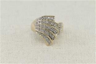 14KT Ladies Cocktail Diamond Ring