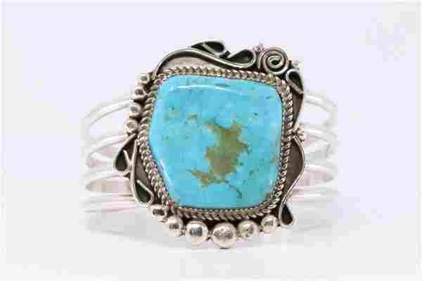 Native American Handmade Sterling Silver Navajo Roy