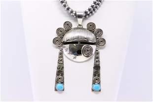Native American Navajo Handmade Sterling Silver Bisbee