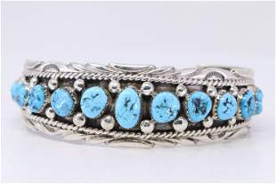 Native American Navajo Turquoise Sterling Silver