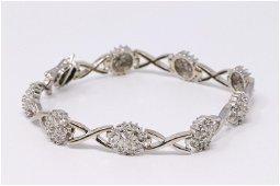 14KT Diamond Baguette Bracelet