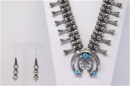 Native America Navajo Handmade Sterling Silver Tuquoise