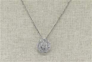 14Kt Diamond Penant w/ 14kt White Gold Necklace
