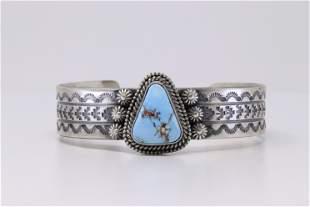 Native American Navajo Handmade Sterling Silver Golden
