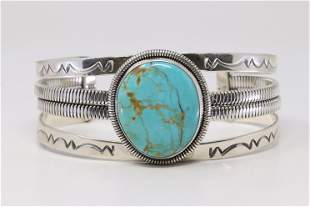 Native America Navajo Sterling Silver Turquoise