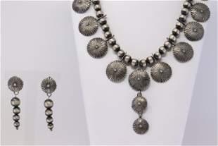 Native America Navajo Handmade Sterling Silver Pearl