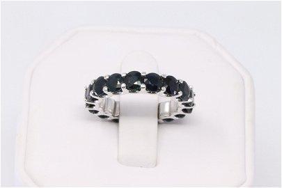 Eternity 14K White Gold Sapphire Ring
