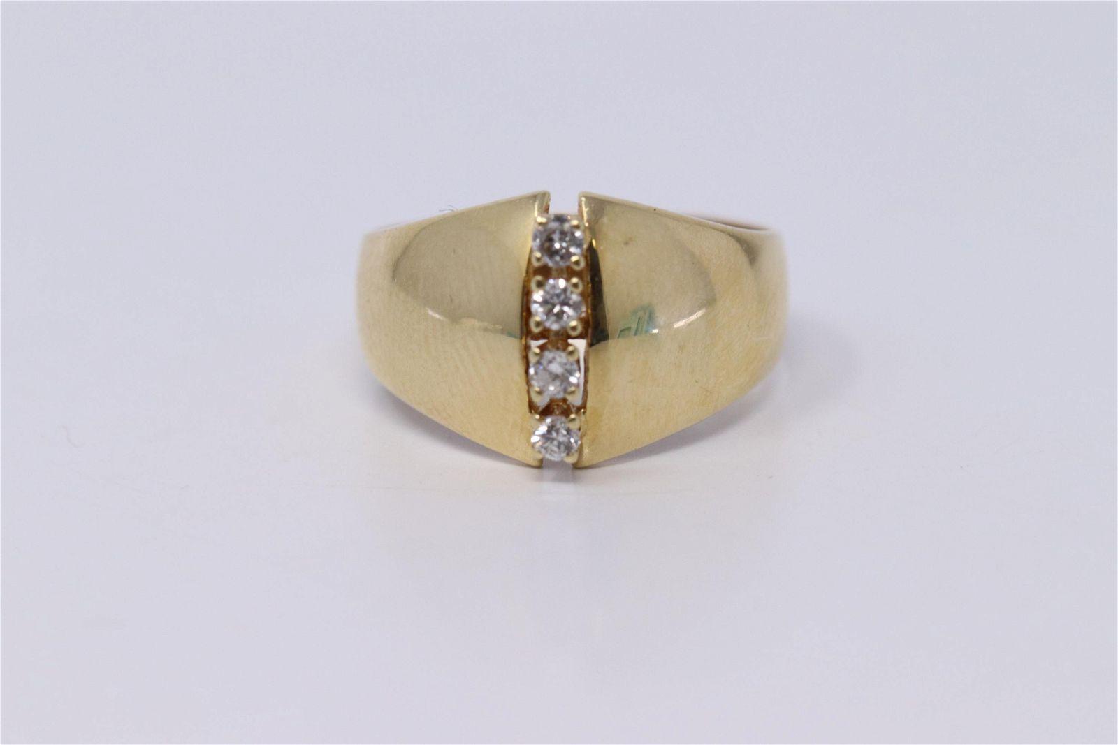 Ladies 14k Vertical Culster Diamond Ring