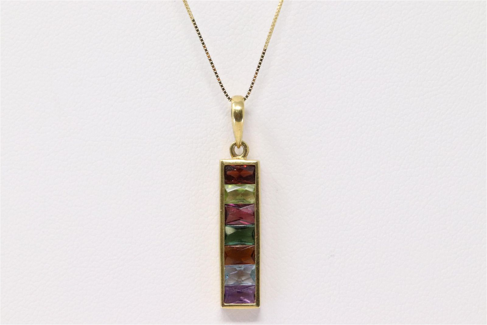 14Kt Yellow Gold Multi-Color Pendant.