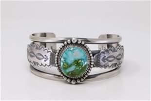 Native American Navajo Handmade Sterling Silver Sonoral