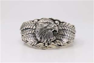 Native America Navajo Handmade Sterling Silver Eagle