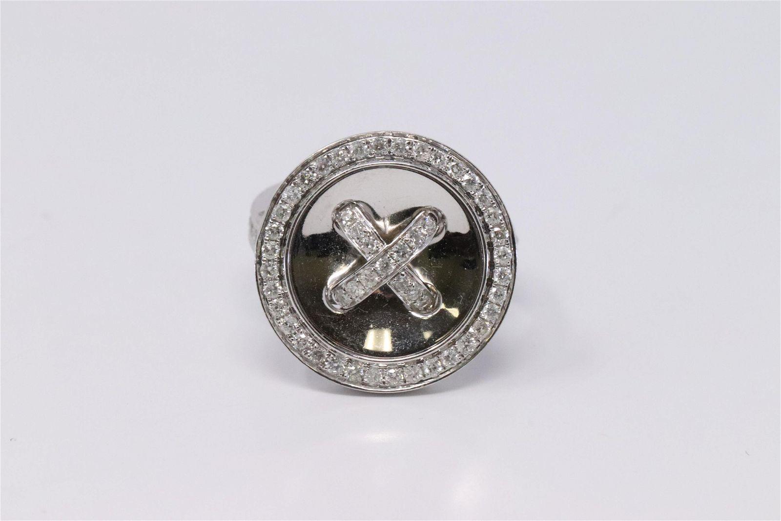 Gorgeous 14K White Gold Diamond Ring