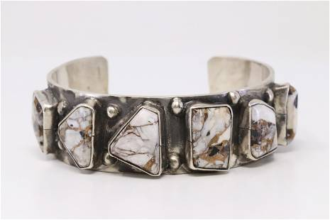 Native American Zuni Handmade Sterling Silver White