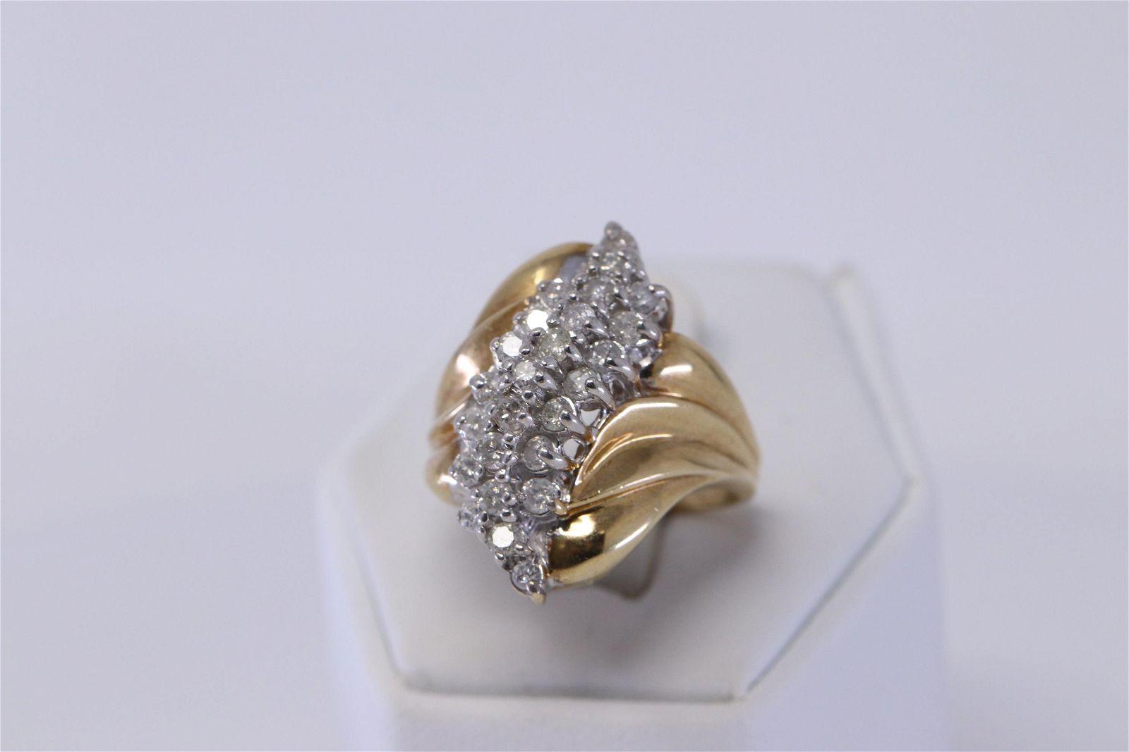 Diamond Cluster Ring 1.00cttw