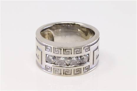 14Kt White Gold Diamond Ring.