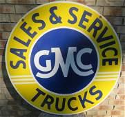 """Vintage Porcelain GMC Dealer Sign 42"""""""