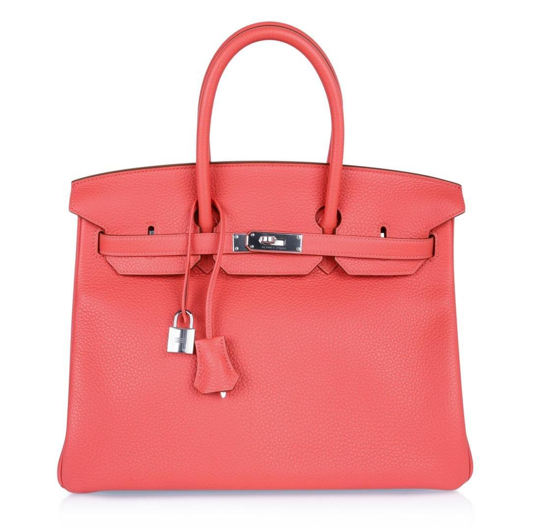 Hermes Birkin 35 Bag, Rose Jaipur Pink Clemence