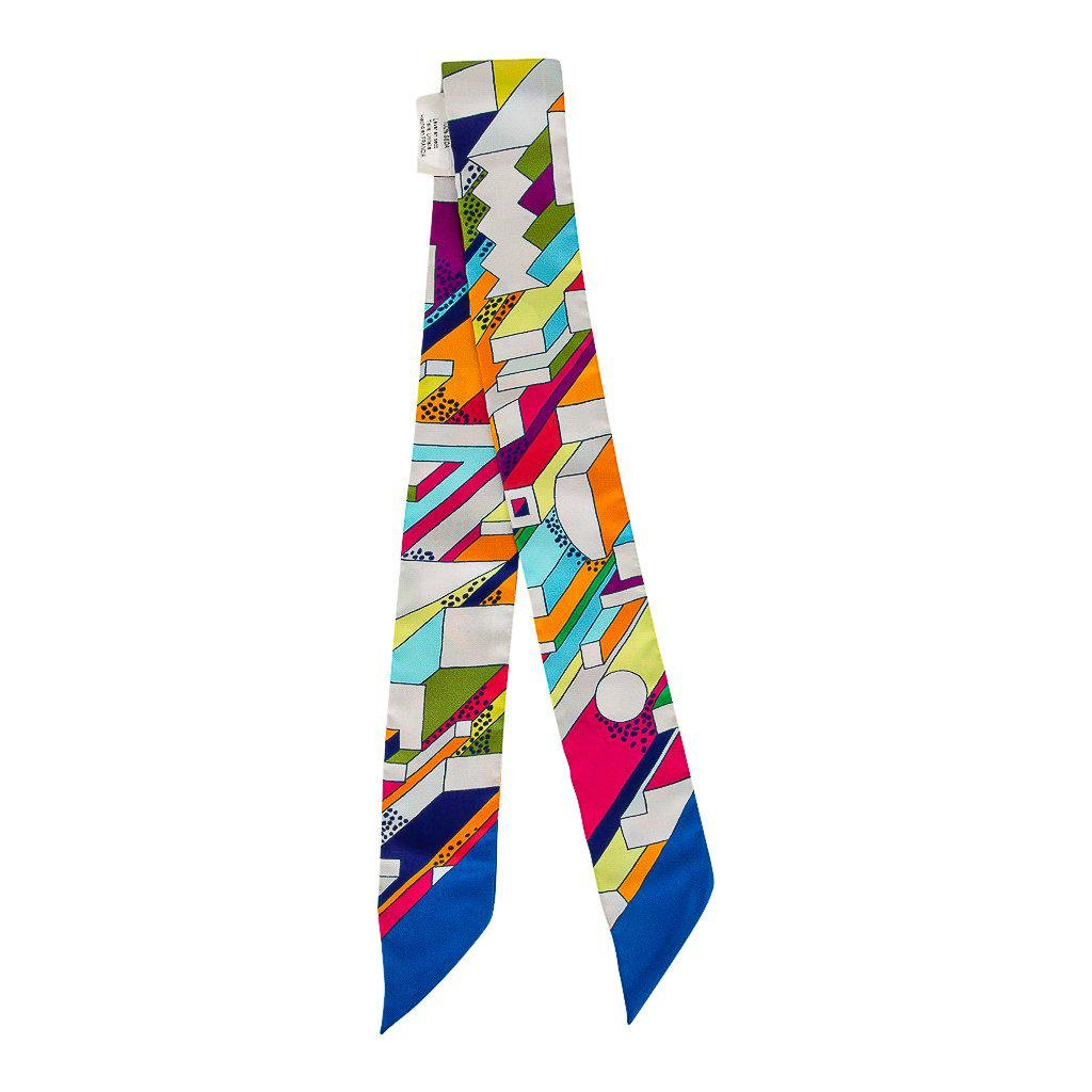 """Hermes Twilly Silk Scarf, """"On A Summer Day"""", Limited"""