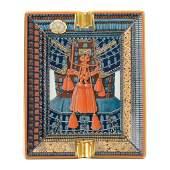 Hermes Porcelain Change Tray, Parures de Samourais