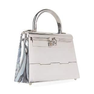 Hermes Sterling Silver Kelly 15 Bag Ultra Rare