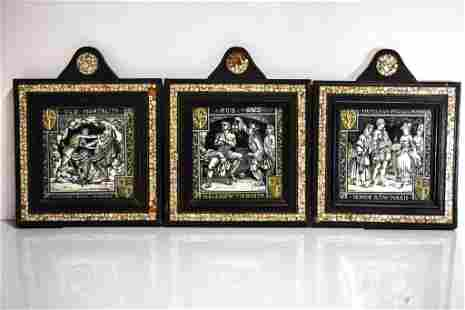 Antique Minton Tile Grouping John Moyr Smith B1839