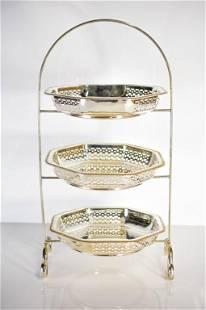 English Silverplate Cake Stand