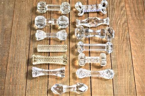 Antique Diminutive Cut Glass Knife Rest Grouping