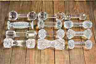 Antique Cut Glas Knife Rest Grouping