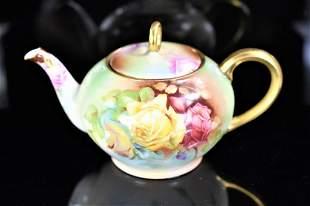 Signed Rose Sevres Bavarian Porcelain Teapot