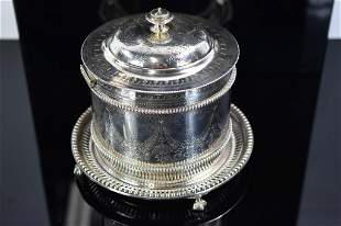 Atkin Brothers Silver Plate Tea Caddy Sheffield