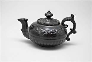 18th Century Wedgwood Salt Glazed Redware Teapot